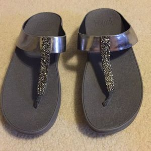 b20f2b1fdcca Fitflop Shoes - Fitflop Fino Toe-Post Sandals Pewter Size 7